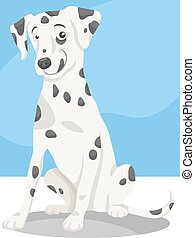 dalmatian dog cartoon illustration - Cartoon Illustration of...