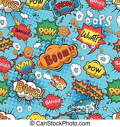 Comic speech bubbles vector - Comic speech bubbles seamless...