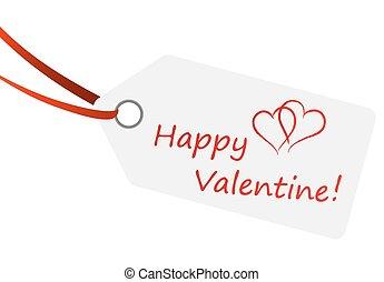 "hangtag with text "" Happy Valentine """