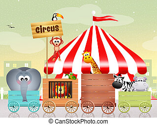 circus - illustration of circus