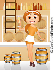 winery - illustration of winery