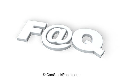faq - frequently asked questions symbol with emailalias on...