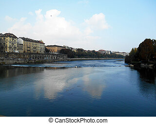 Po River, Turin, Italy. Picture taken on October 28, 2013....
