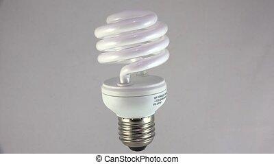 Energy saving lamp. 4K. - Energy saving lamp. Shot in 4K...