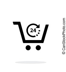 Convenience store simple icon on white background. Vector...