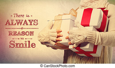 There is always a reason to smile holiday message