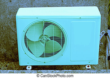 air conditioner outside compressor and condenser unit