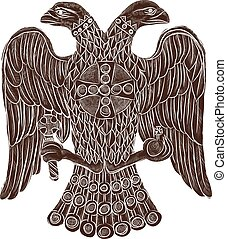 Byzantine double headed eagle Vector illustration Eps 10