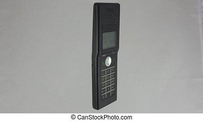 Radiotelephone handset. 4K. - Radiotelephone handset. Shot...