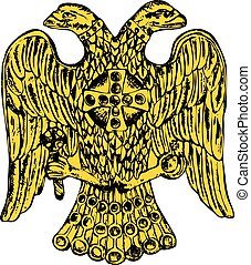 Byzantine double headed eagle. Vector illustration Eps 10
