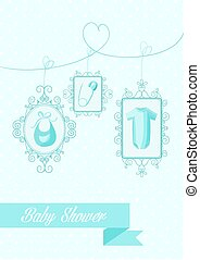 Baby shower boy hanging elements