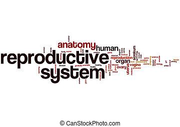 reproducteur, système, mot, nuage,
