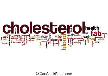 Cholesterol word cloud concept