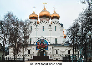 Assumption Cathedral in Yaroslavl autumn day