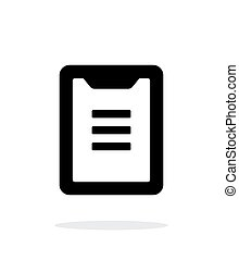 Clipboard simple icon on white background. Vector...