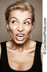 Angry girl - Angry woman