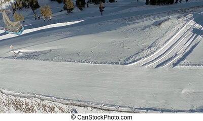 Arial shot of Ski Tram