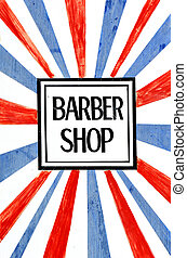 Barber shop sign and symbol, concept photo . copy space