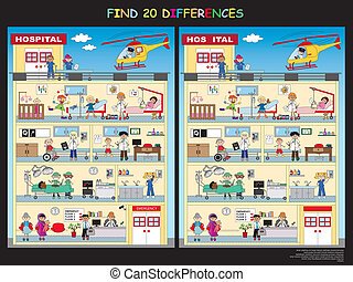 game for children: find the twenty differences in the...