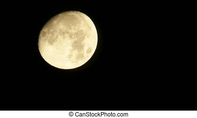 Full White Moon With Increase In 30 Times And Night