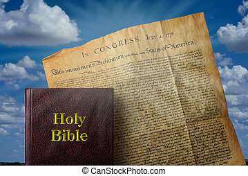 Bible and America. - Holy Bible and American Declaration of...