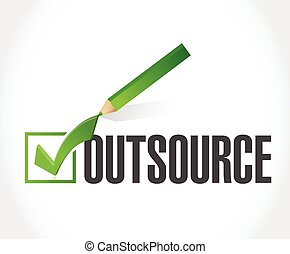 outsource checkmark illustration