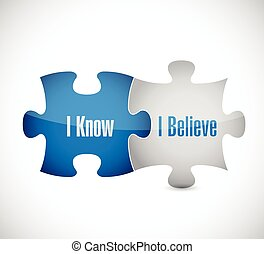 I know I believe puzzle pieces illustration design over a...