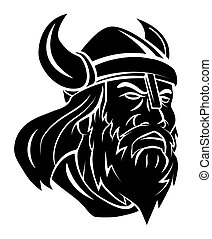 Viking Head Vector Illustration