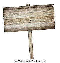 木制, 白色, 被隔离, 背景, 簽署