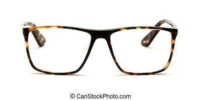 reading glasses isolated on white - reading glasses with...