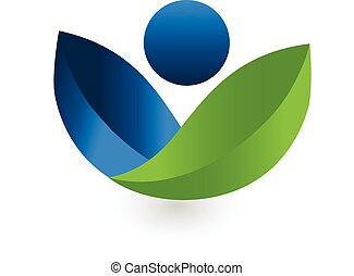 Health Nature logo vector - Health nature logo vector