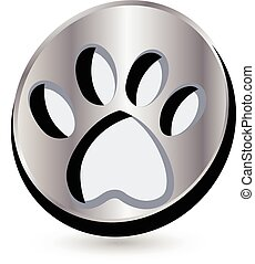dog footprint logo