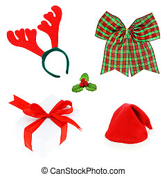 Christmas set & Accessories. isolated on white background, Pair