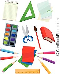 school supplies - illustration of a school supplies