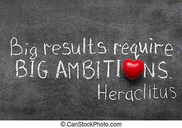 big ambitions - famous Ancient Greek philosopher Heraclitus...