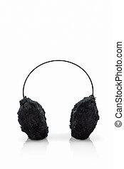 Black fuzzy winter ear muff . - Black fuzzy winter ear muff...