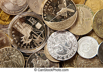 Coins of different countries coin collection