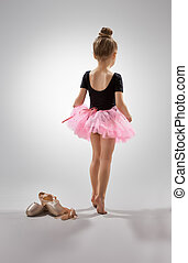 ballerina - little girl plays in the ballet