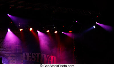 concert light show - Image of colorful concert lighting on a...