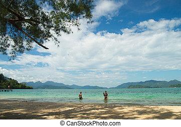 Beautiful tropical beach at island Koh Wai , Thailand