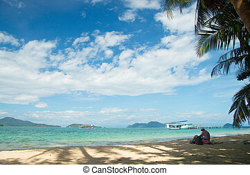 Beautiful tropical beach at island Koh Wai , Thailand