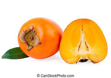 kaki persimmon fruit isolated