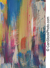 brushstrokes - Brushstrokes with colorfully acrylic paints