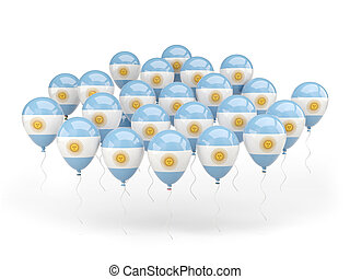 Balloons with flag of argentina