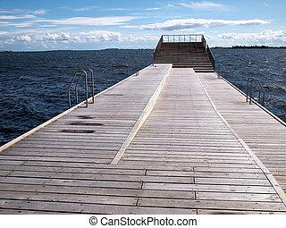 Modern sun bathing relax deck