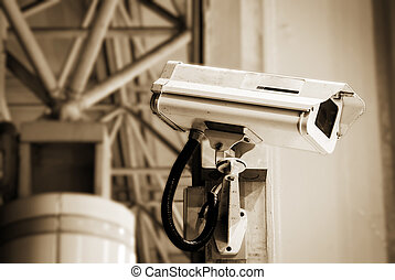 security camera in the public place