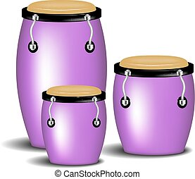 Congas band in purple design with shadow on white background