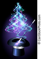 Christmas tree and magician hat - Transparent Christmas tree...