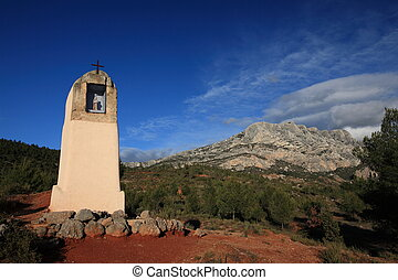 Wayside cross in Provence, southern France