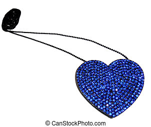 Heart shaped necklace, isolated